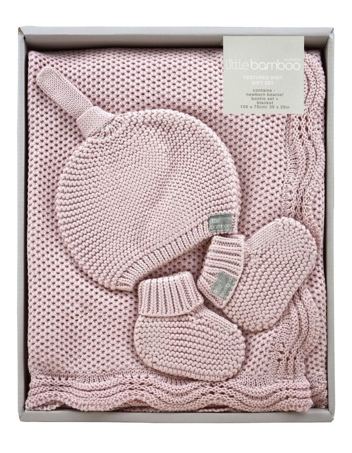 Textured Knit Gift Set - Dusty Pink image 1