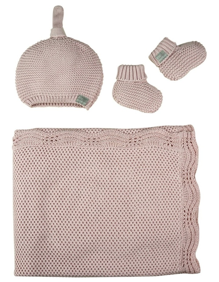 Textured Knit Gift Set - Dusty Pink image 3