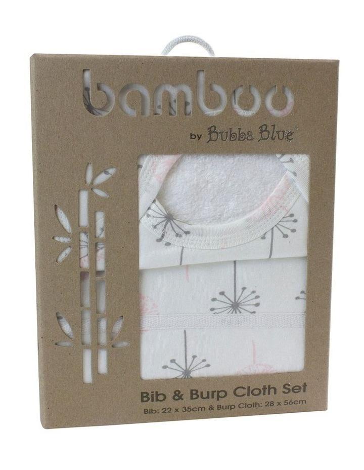 Pink Bloom Bib & Burp Pad Set image 1