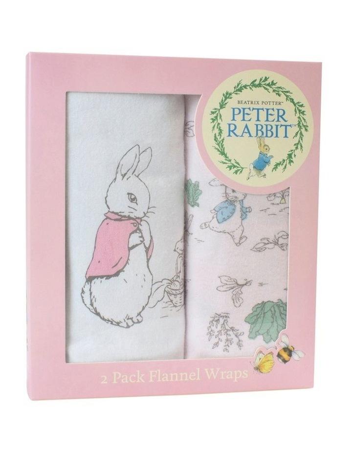 Hop Little Rabbit 2 Pack Flannel Wraps image 1