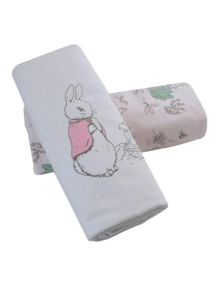 Hop Little Rabbit 2 Pack Flannel Wraps image 2