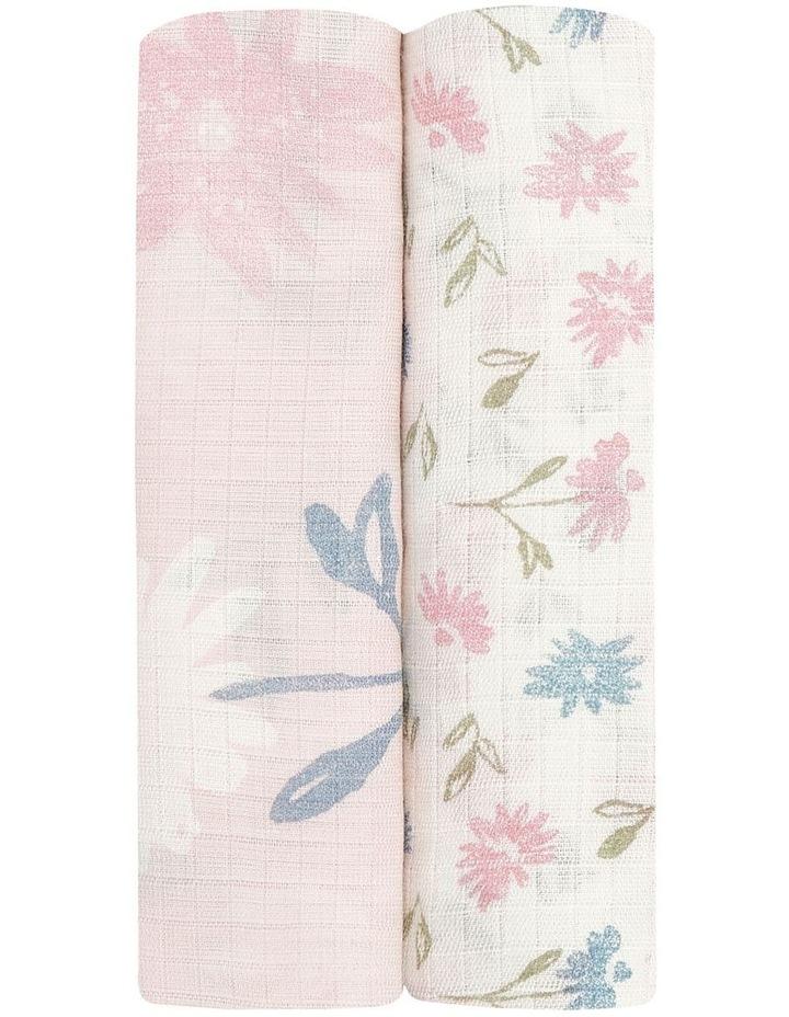 Vintage Floral 2-Pack Bamboo Swaddles image 2