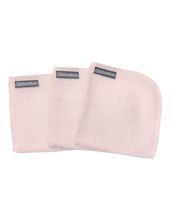 Towelling Washers 3 Pack Dusty Pink image 2