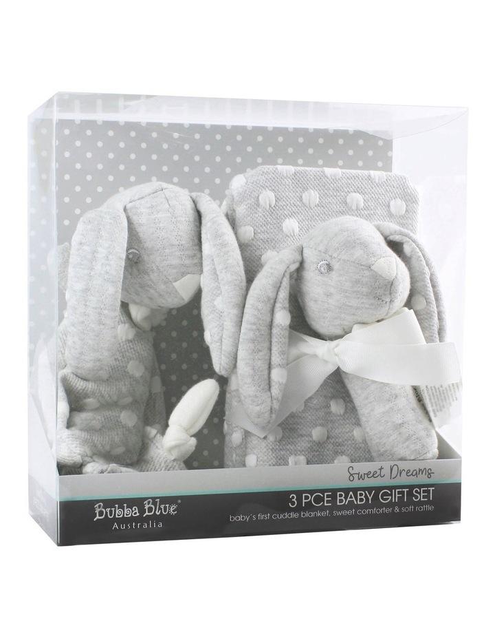 Sweet Dreams 3 Piece Baby Gift Set - Grey image 1
