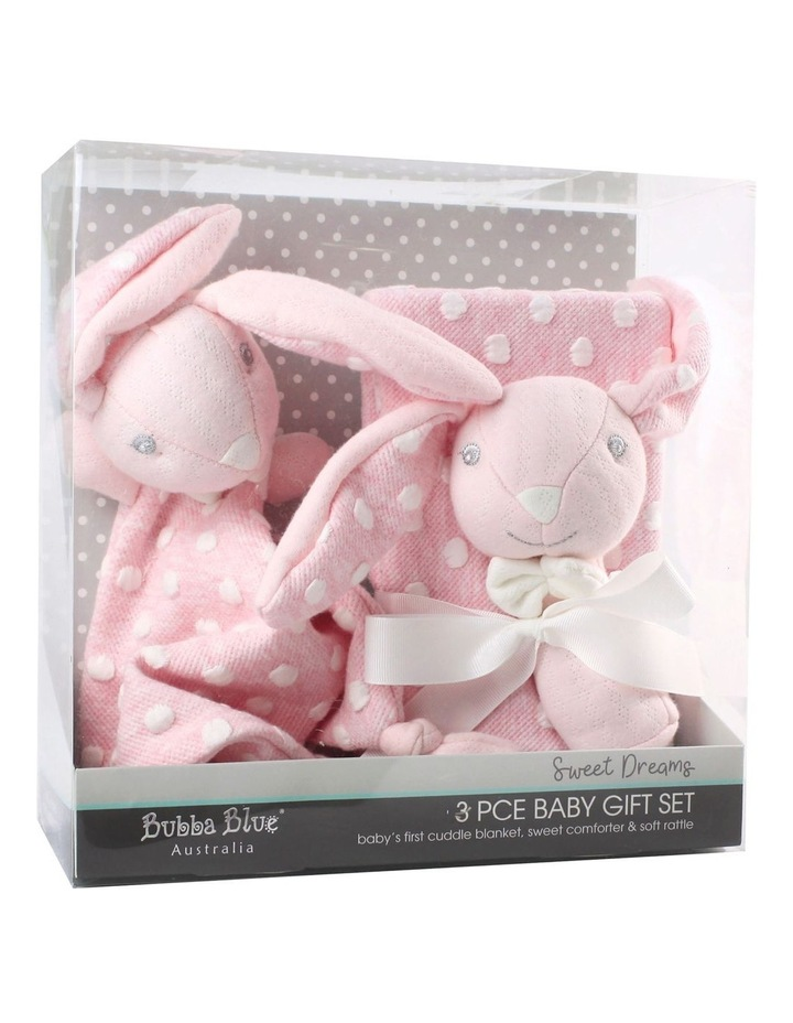 Sweet Dreams 3 Piece Baby Gift Set - Pink image 1