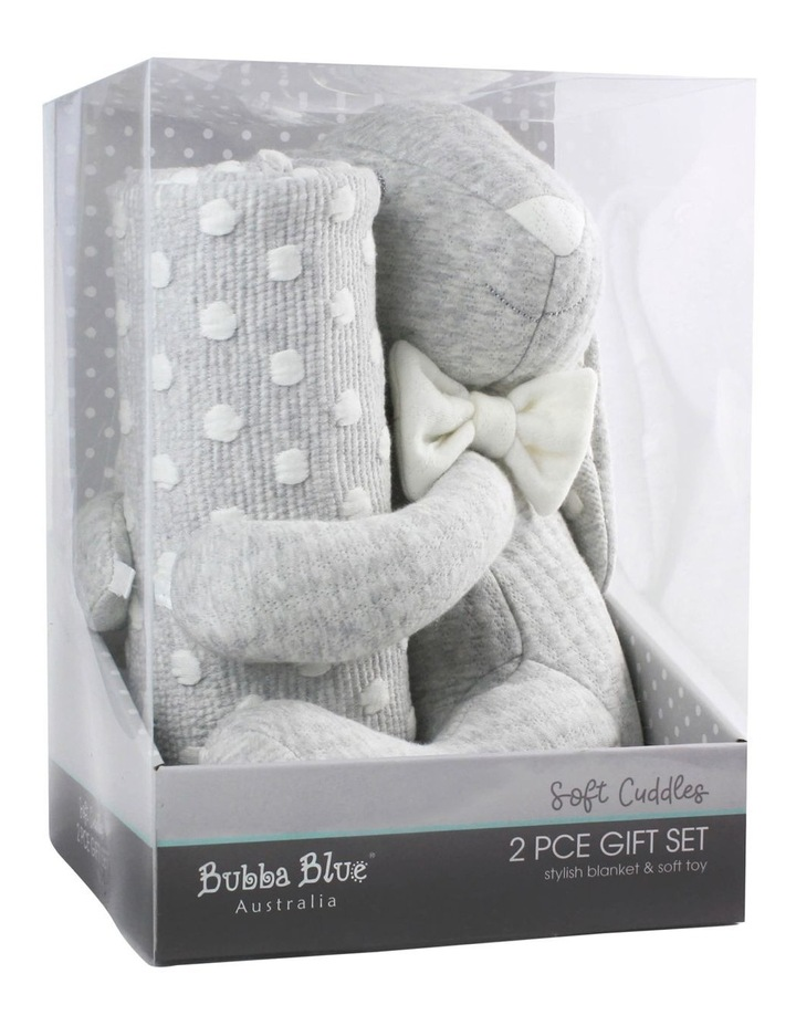 Soft Cuddles 2 Piece Baby Gift Set - Grey image 1