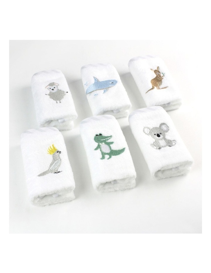 Aussie Animals Pack of 6 Face Washers image 3