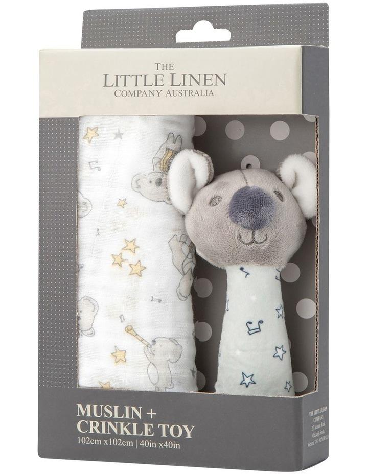 Muslin Wrap & Crinkle Toy - Cheeky Koala image 1
