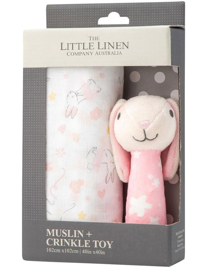 Muslin Wrap & Crinkle Toy - Ballerina Bunny image 1