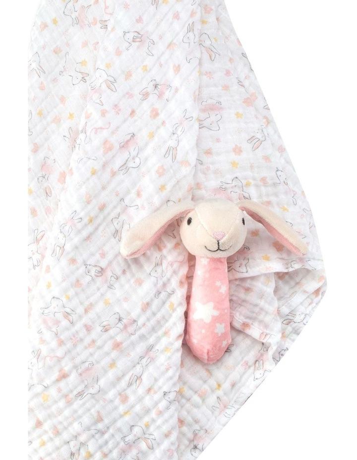 Muslin Wrap & Crinkle Toy - Ballerina Bunny image 2