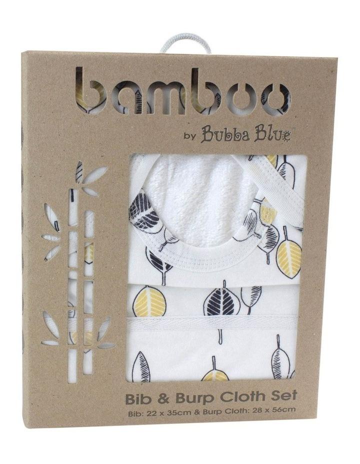 Night Sky Bamboo Blue/Mustard Bib & Burp Cloth Set image 1