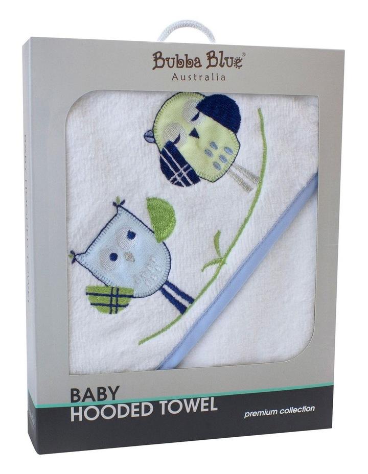 Boy Owl Hooded Bath Towel image 1