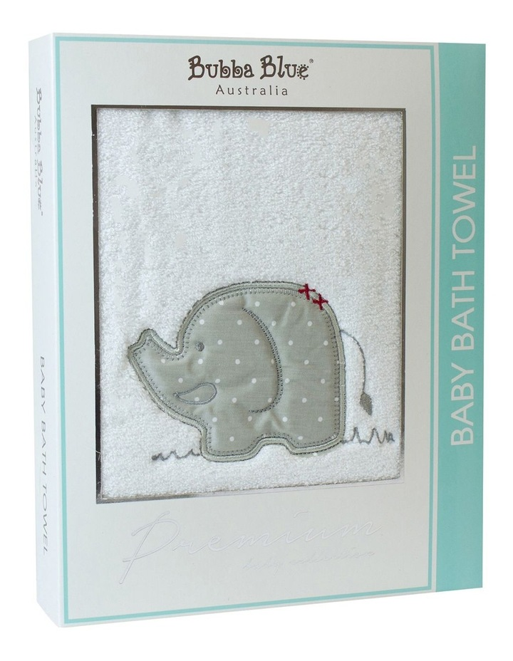 Petit Elephant Embroidered Bath Towel image 1