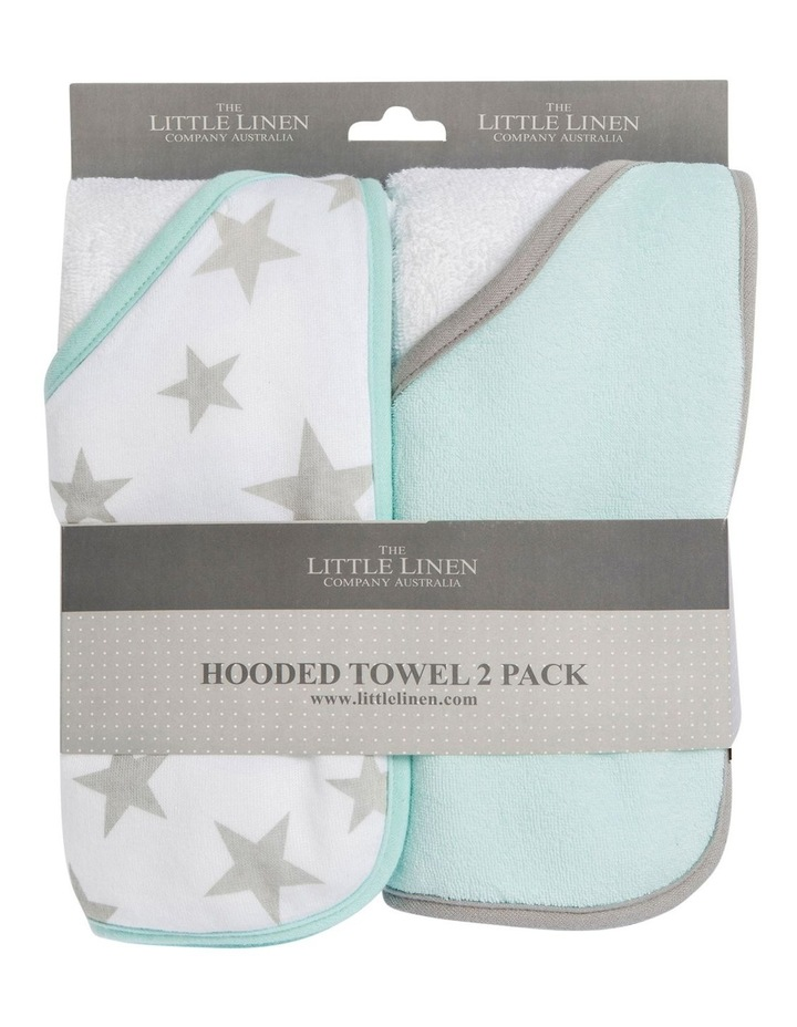 Hooded Towel 2pk - Starlight Mint image 1