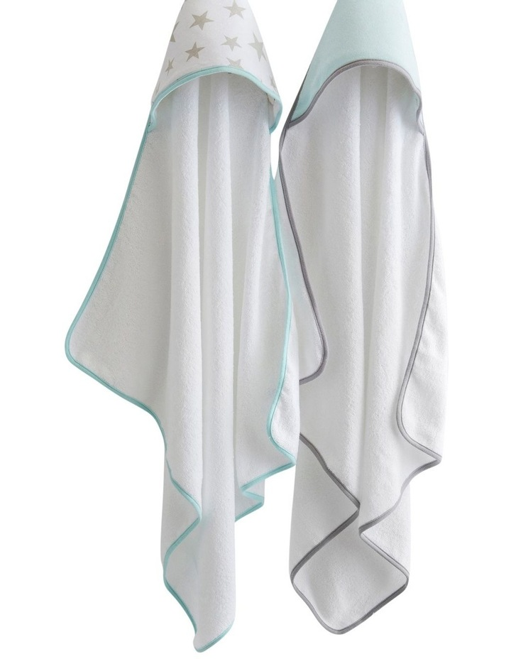 Hooded Towel 2pk - Starlight Mint image 2