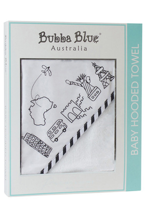 Bubba Blue - Velour Hooded Towel