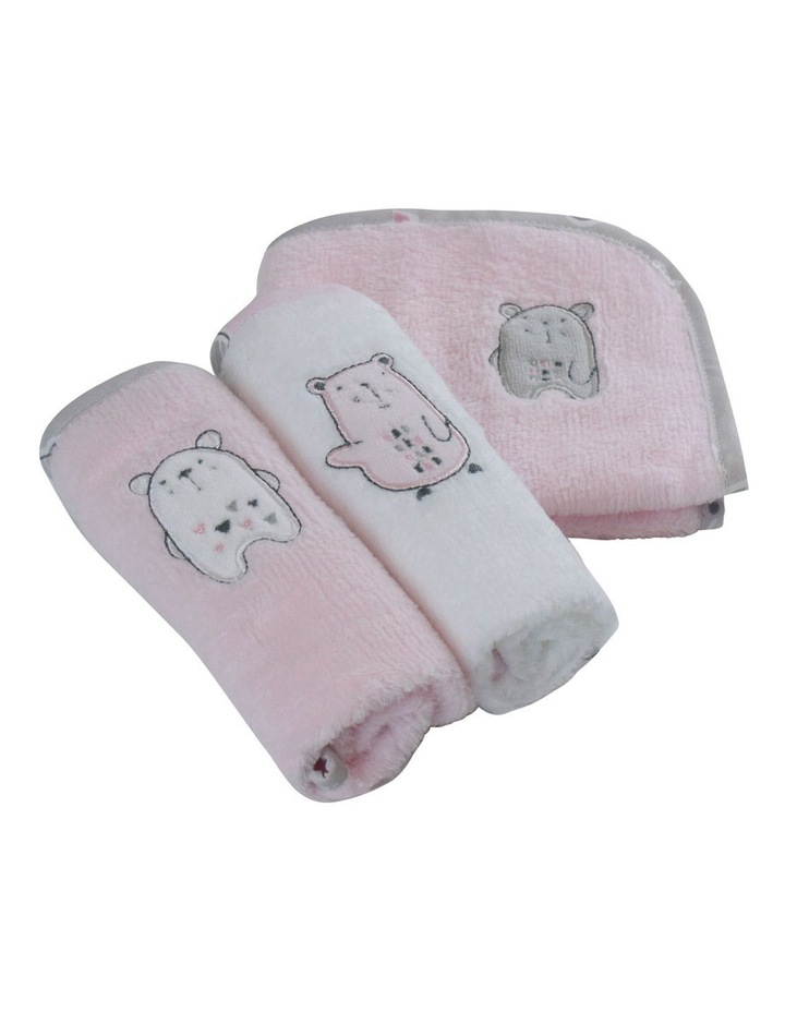 """""""Beary Sweet""""3pk Face Washers image 1"""