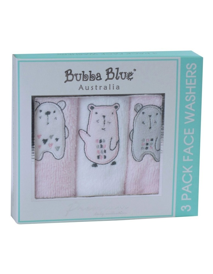 """""""Beary Sweet""""3pk Face Washers image 2"""