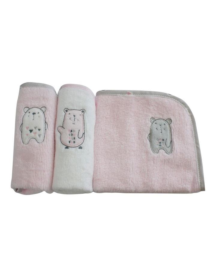 """""""Beary Sweet""""3pk Face Washers image 3"""