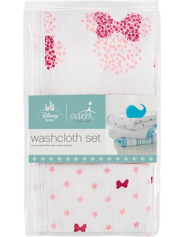 Minnie 3 packed Disney Baby Washcloth Set image 1