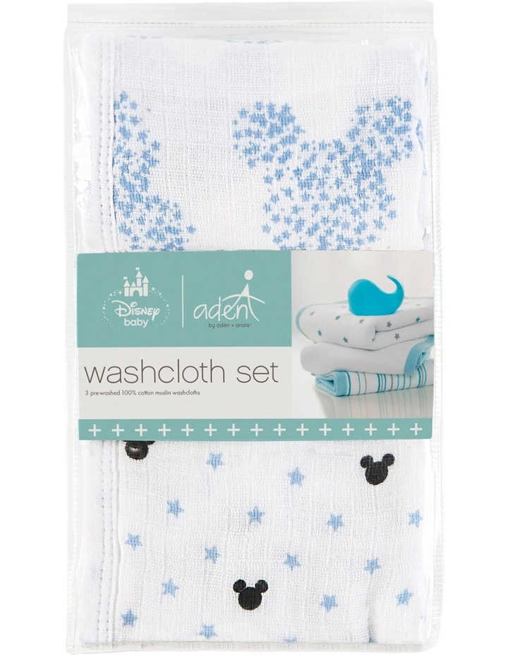 Mickey 3 Packed Disney Baby Washcloth Set image 1