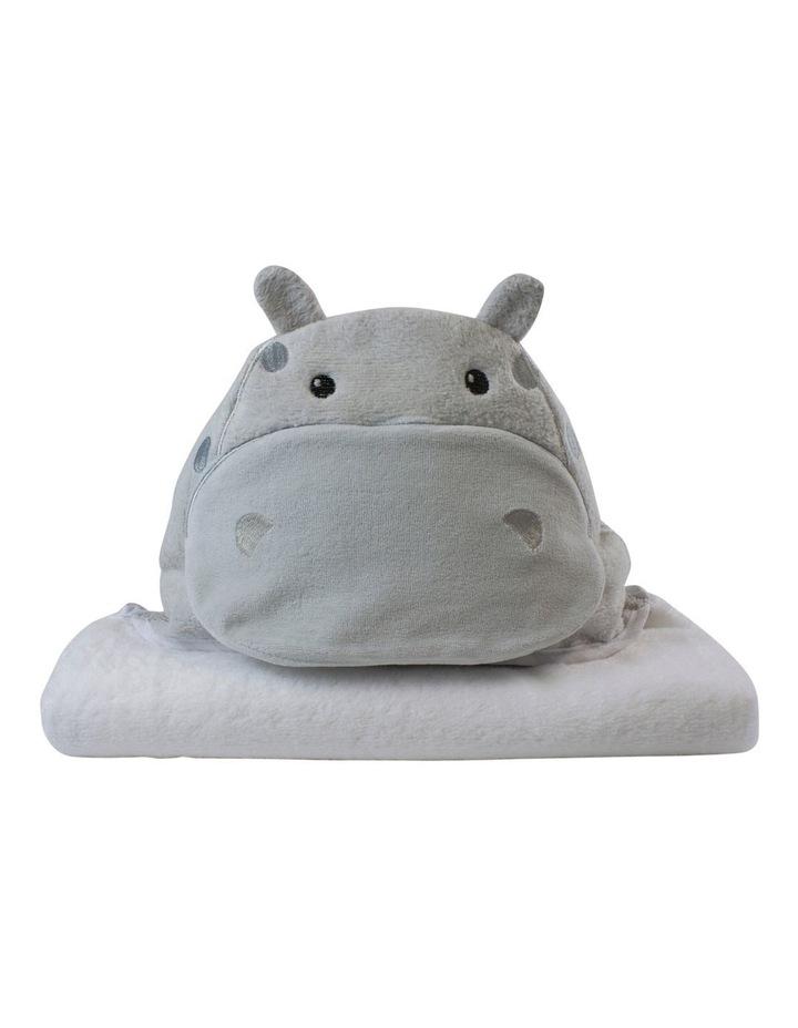"""""""Zoo Animals"""" Hippo Novelty Towel image 1"""