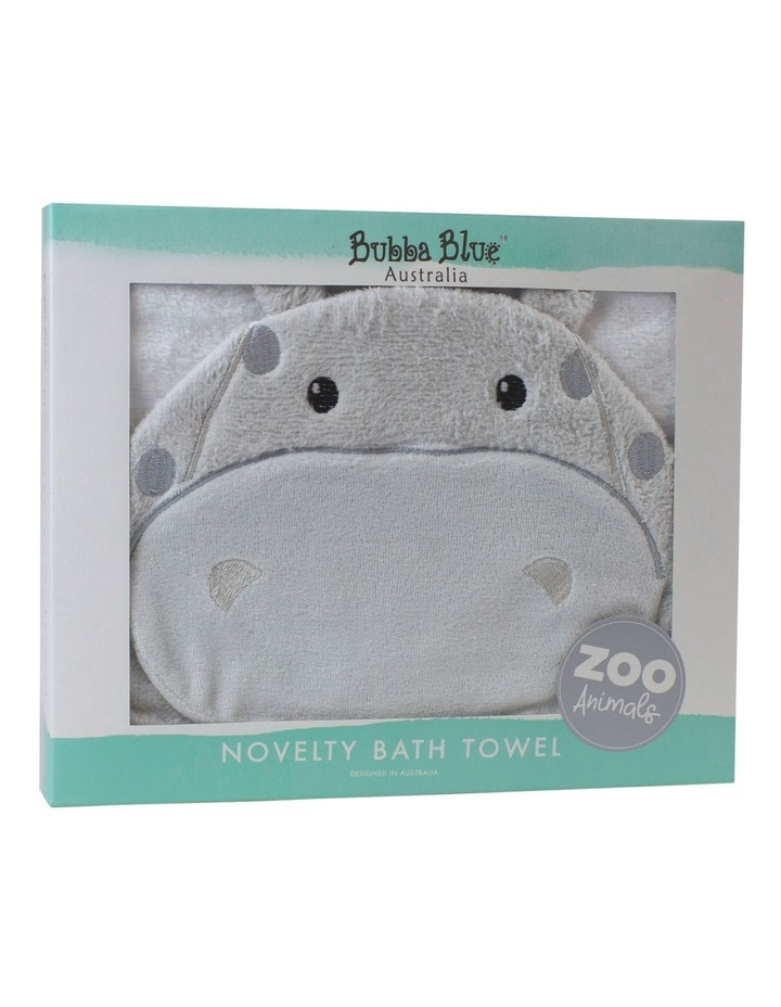 """Zoo Animals"" Hippo Novelty Towel image 2"