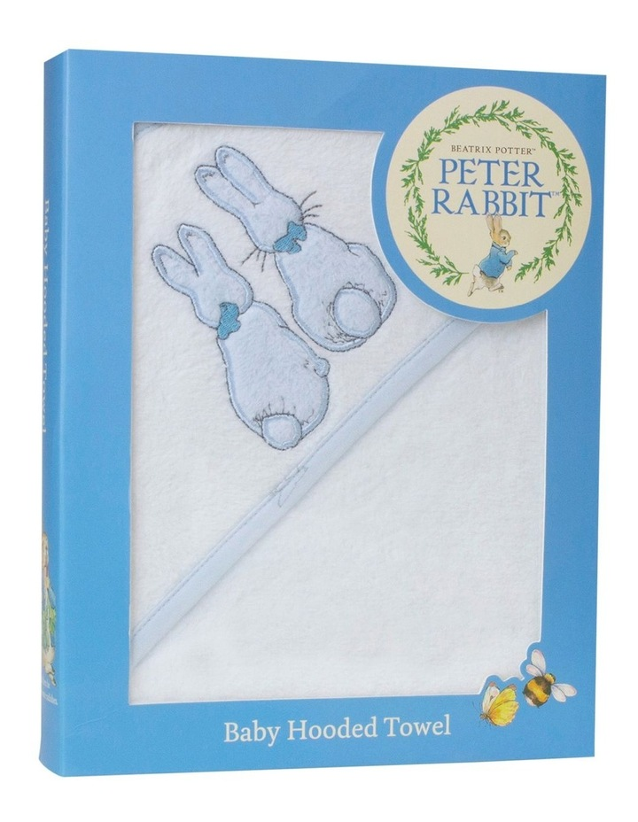"""Peter Rabbit"" Linear Meadow Hooded Towel image 1"