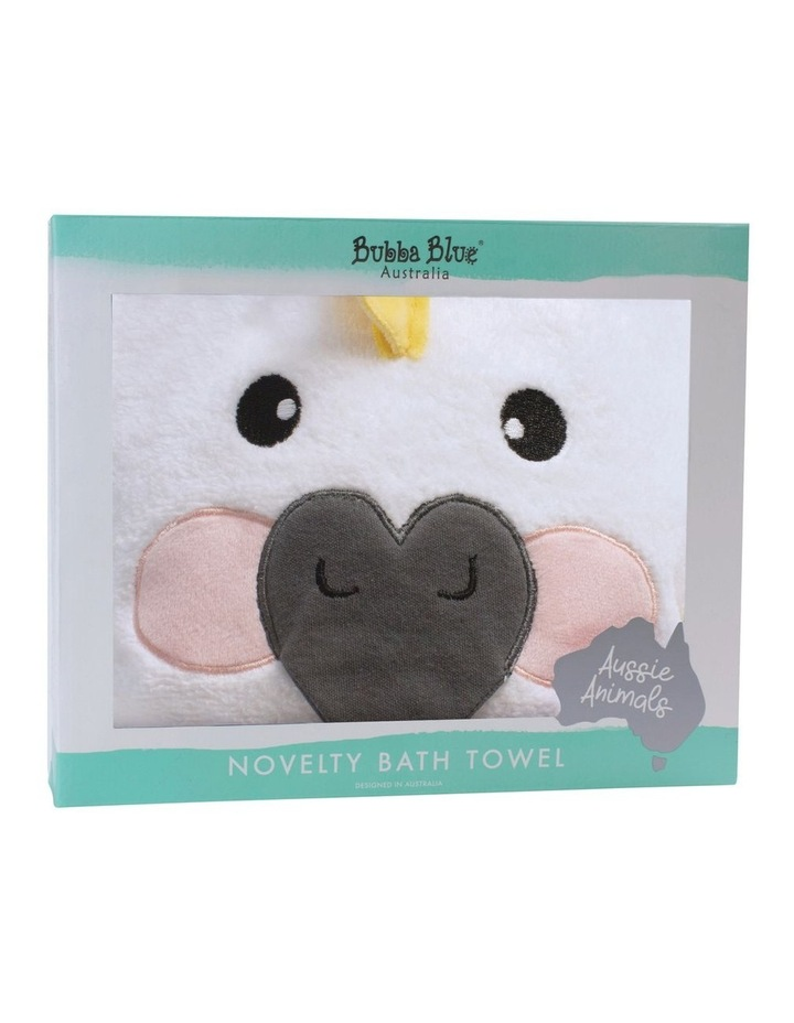 Aussie Animals Cockatoo Novelty Hooded Towel image 1