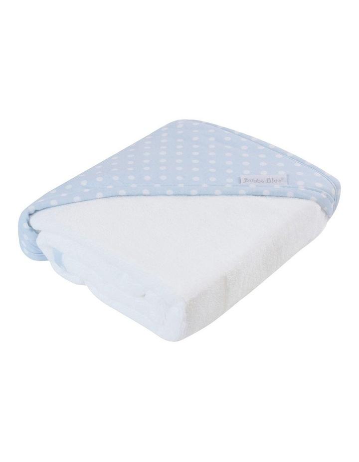 Polka Dots Blue Hooded Towel image 2