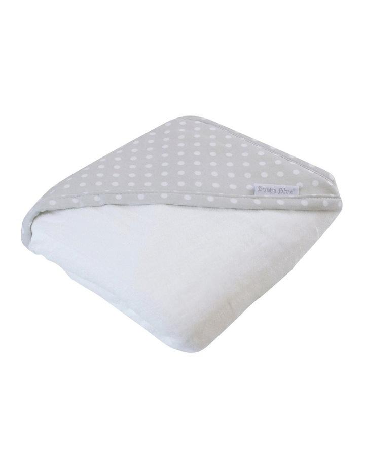 Polka Dots Grey Hooded Towel image 1