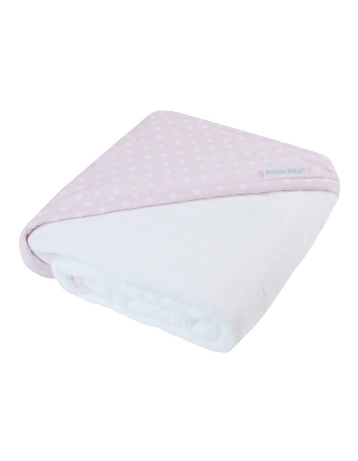 Polka Dots Pink Hooded Towel image 2