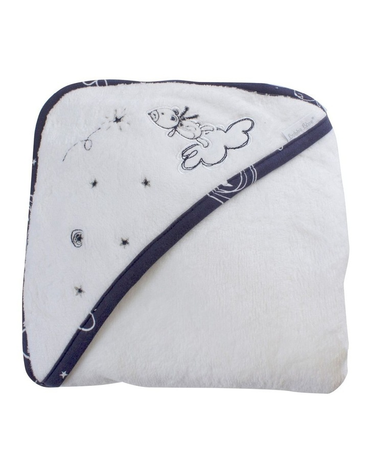Navy Wish Upon a Star Hooded towel image 3