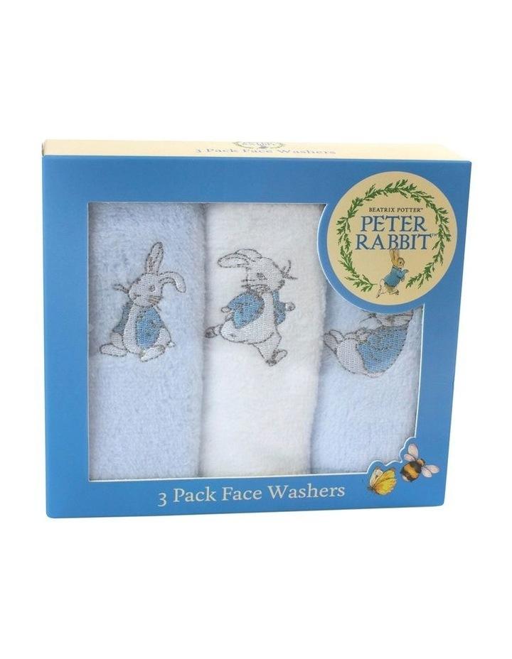 Hop Little Rabbit 3 Pack Face Washers image 1
