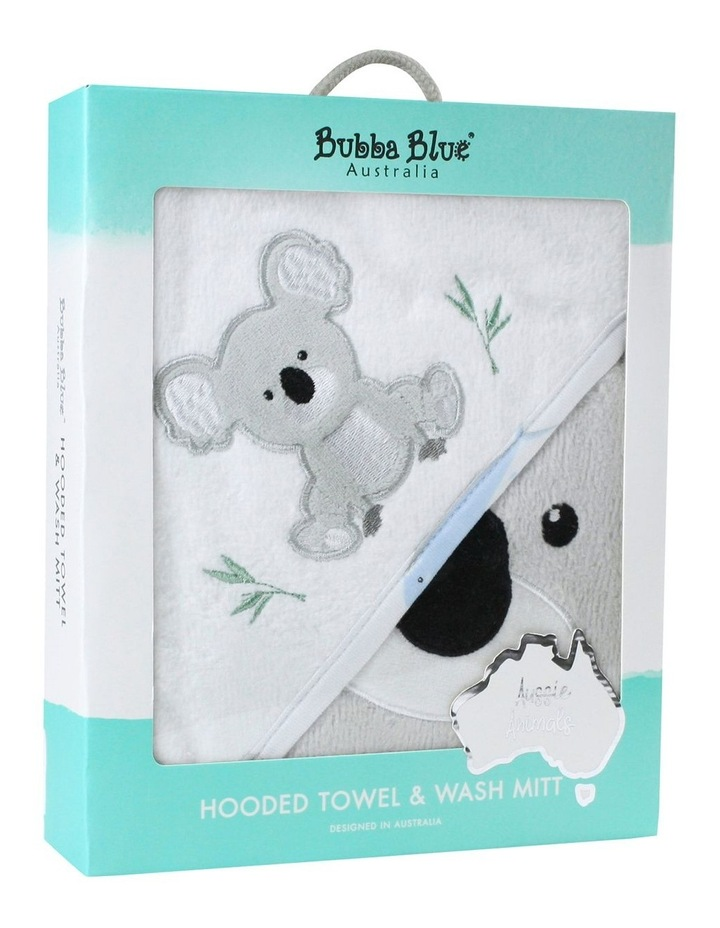 Aussie Animals Koala Hooded Towel & Wash Mitt image 1