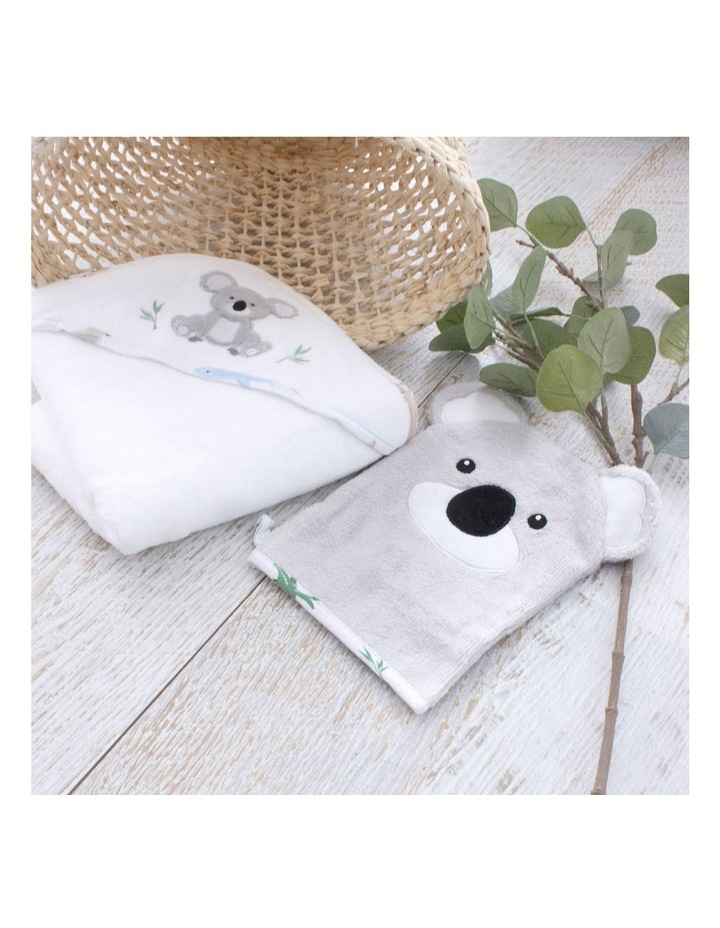 Aussie Animals Koala Hooded Towel & Wash Mitt image 5