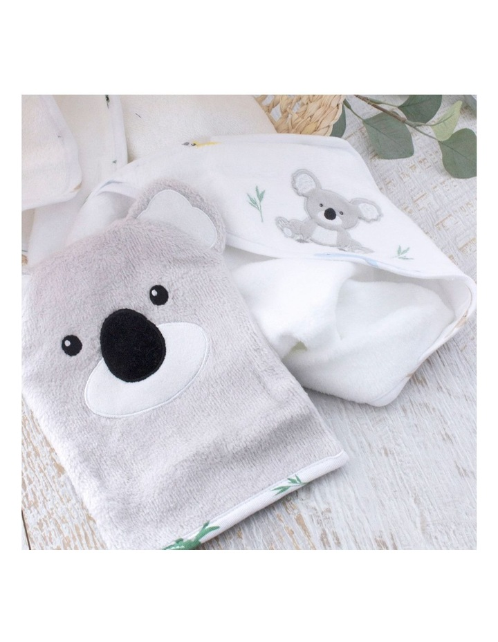 Aussie Animals Koala Hooded Towel & Wash Mitt image 6