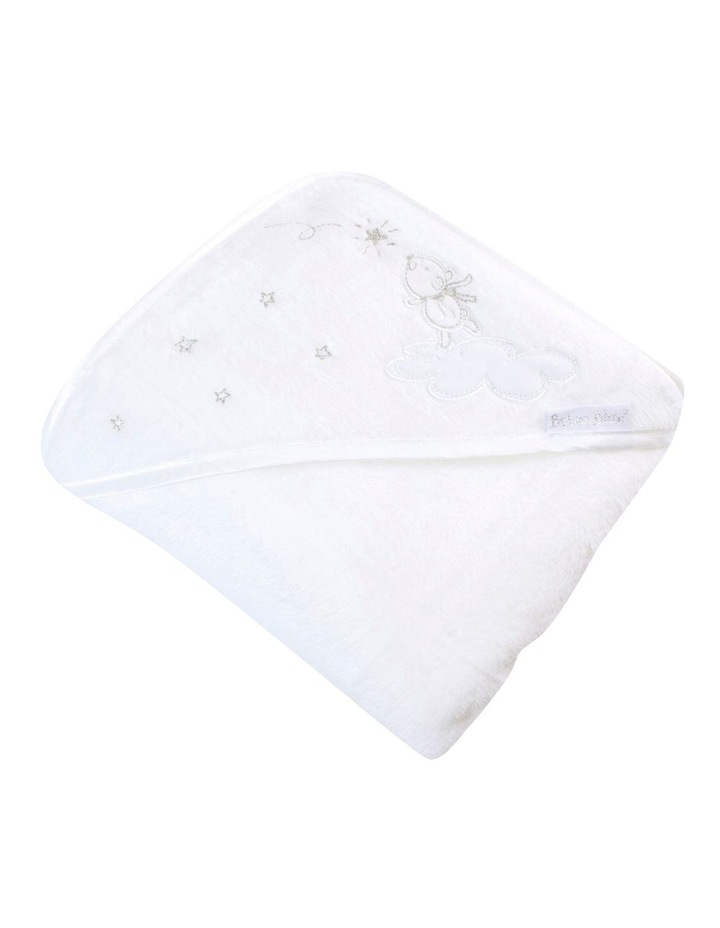 Wish Upon A Star White Hooded Bath Towel image 1