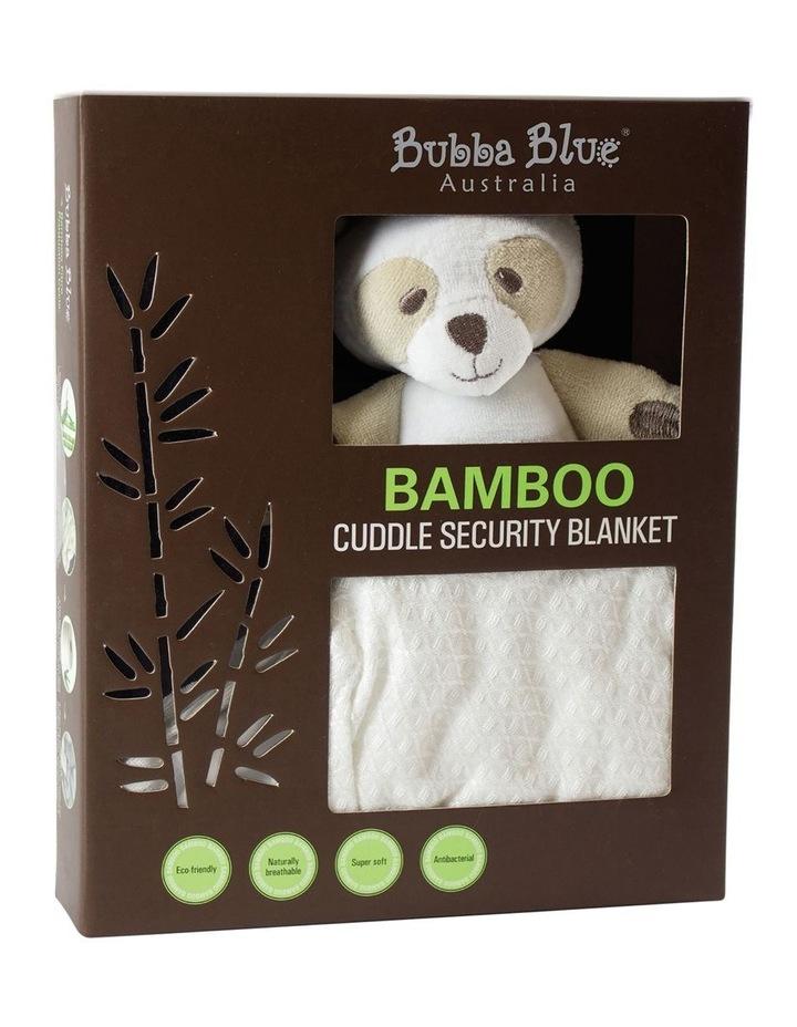 Bamboo Bear Security Blanket White image 1