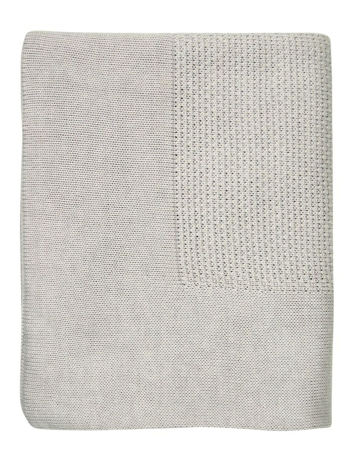 Textured Knit Blanket - Silver image 2