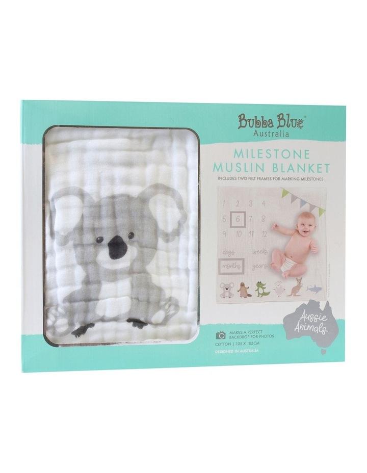 Aussie Animals Milestone Muslin Blanket image 1