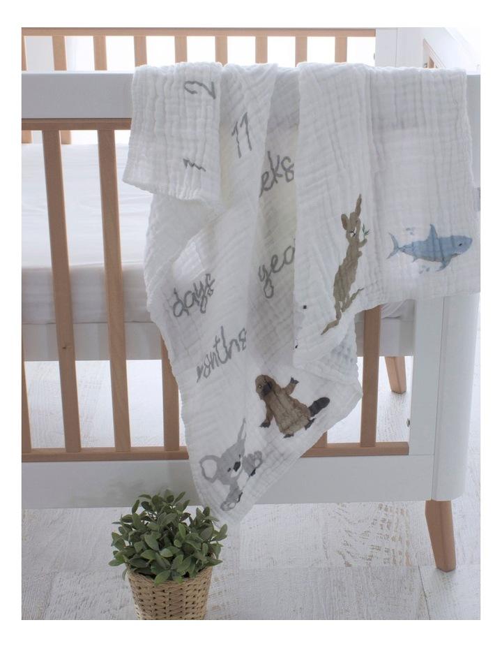 Aussie Animals Milestone Muslin Blanket image 3