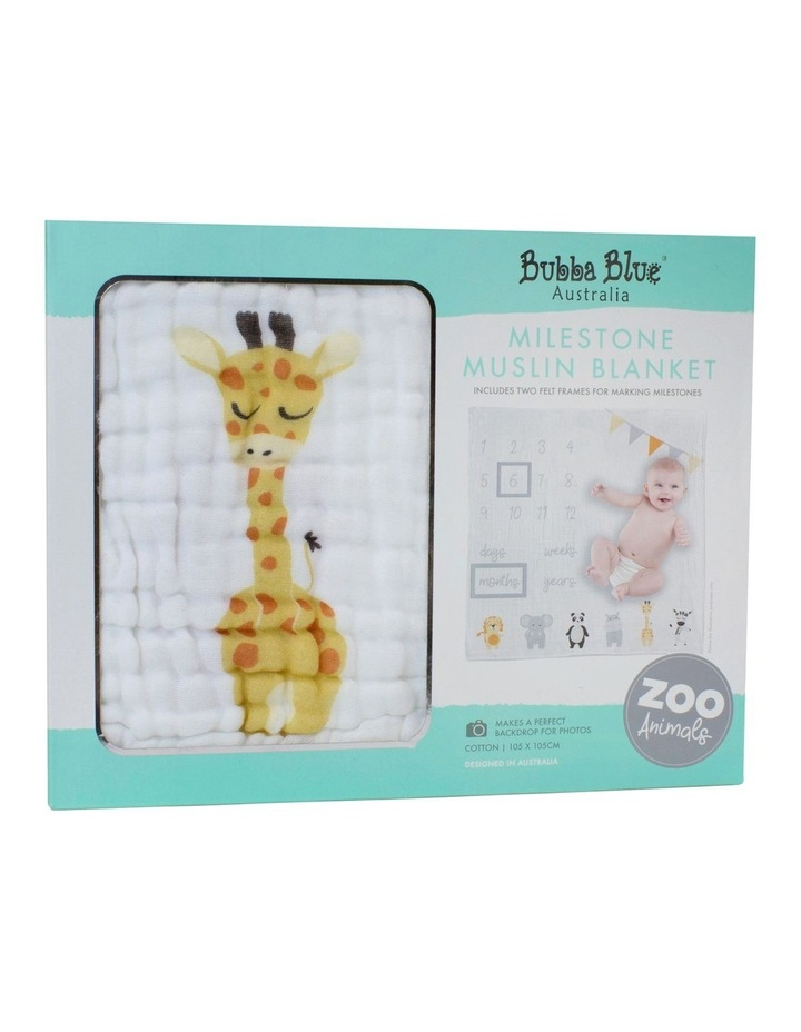 Zoo Animals Milestone Muslin Blanket image 1