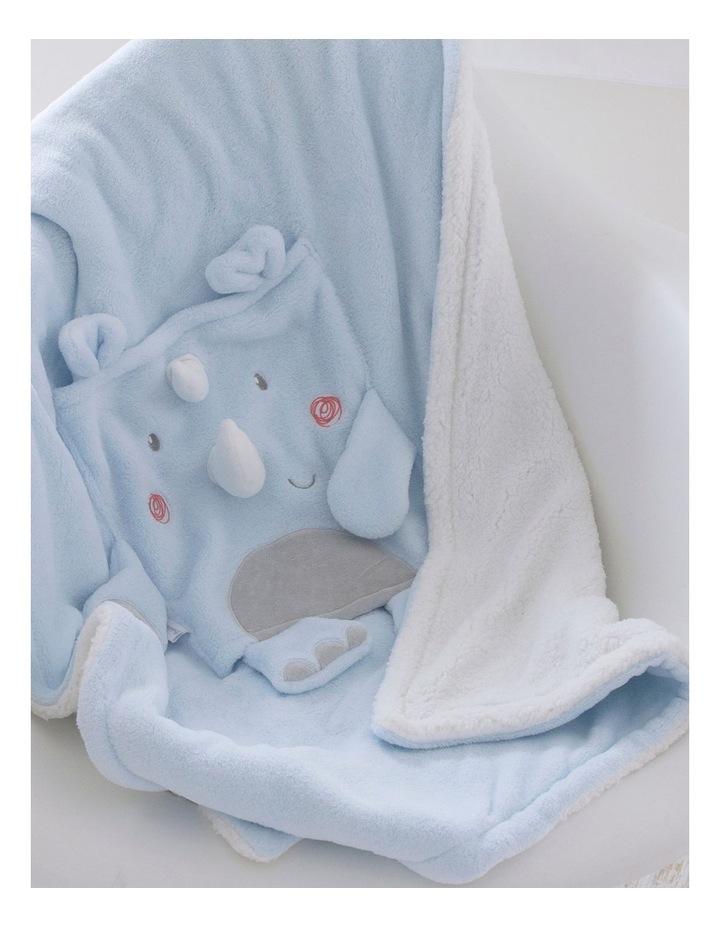 Rhino Run Novelty Cuddle Blanket image 2