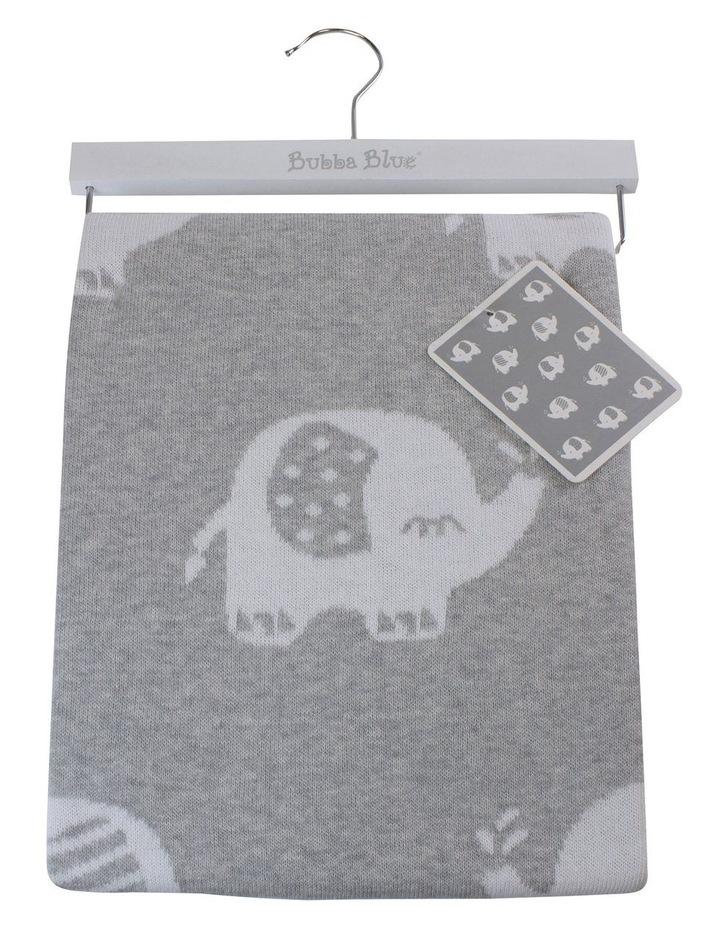 Petit Elephant Knit Baby Blanket image 1