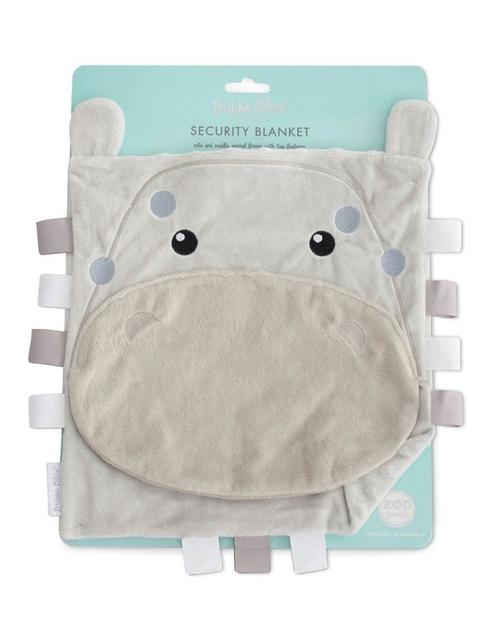 Zoo Animals Security Blanket Hippo image 1