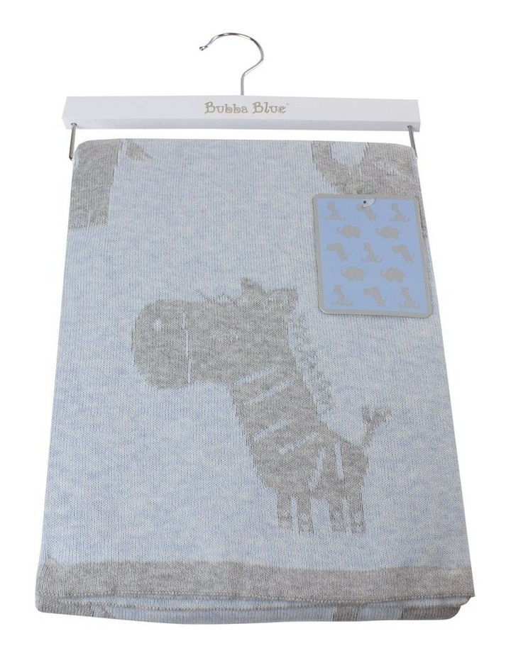 Reversible Cotton Knit Blanket image 1