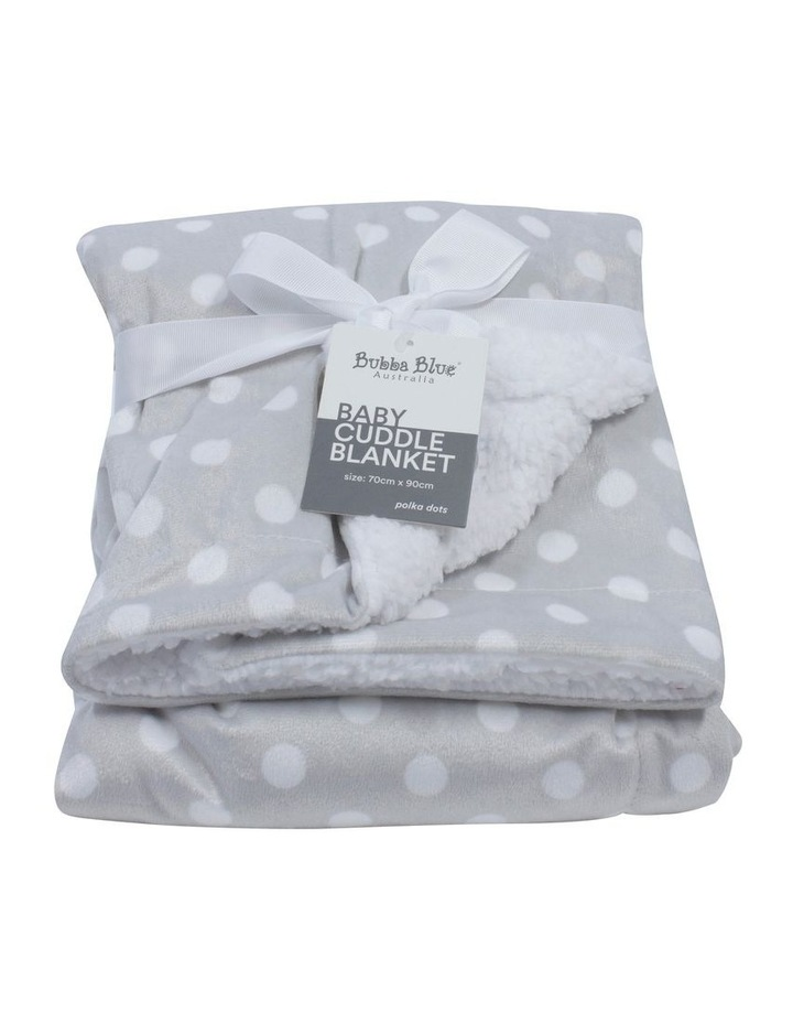 Polka Dots Grey Reversible Cuddle Blanket image 1