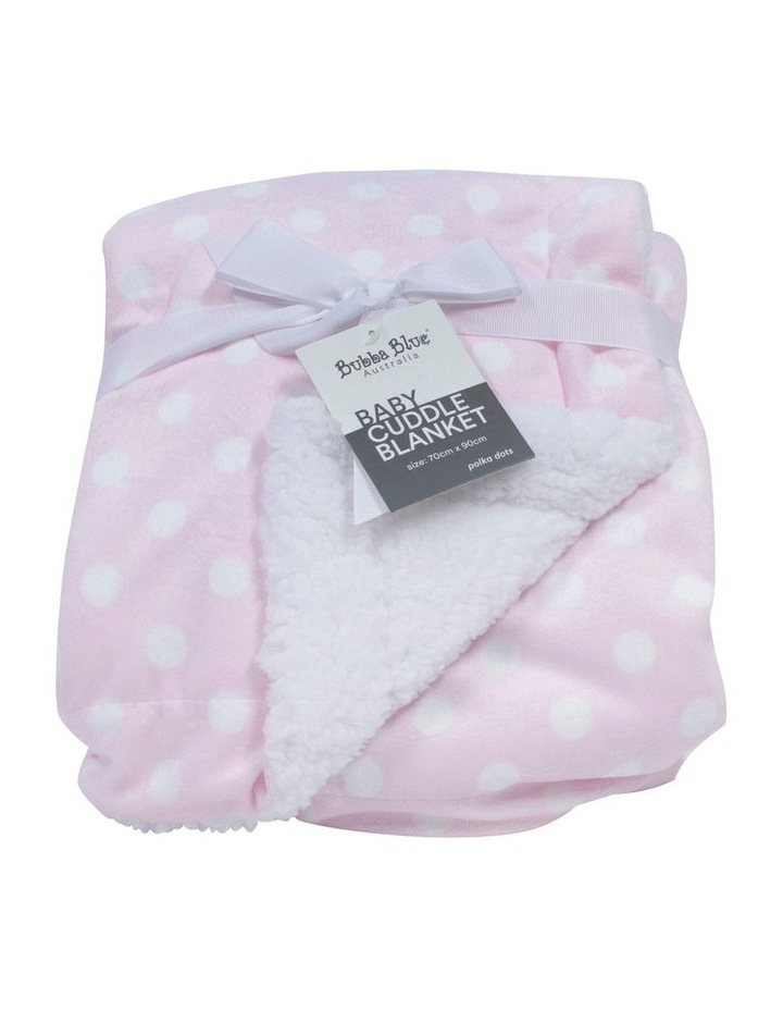 Polka Dots Pink Reversible Cuddle Blanket image 1