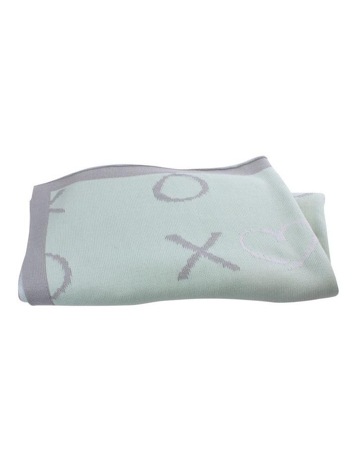 Mint Meadow Knit Blanket image 1